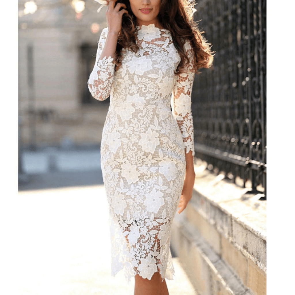 Pin On Lace Dress Outfit [ 1024 x 1024 Pixel ]
