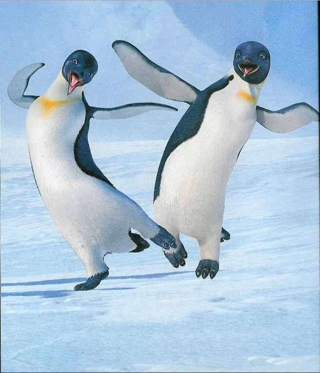 Gloria And Mumble Without His Baby Feathers Cute Penguins Happy Feet Animals