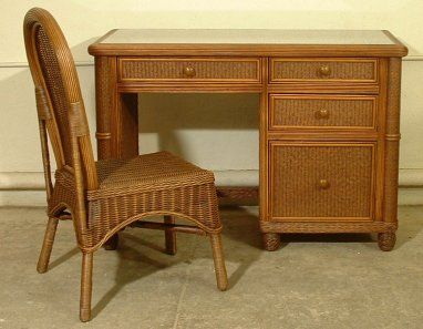 Floine Desk And Chair Wicker Bedroom Furniture