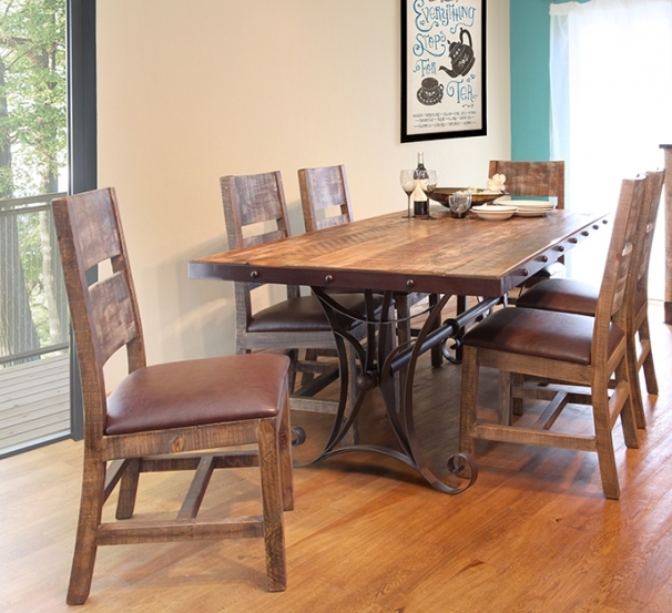 Rustic Dining Room Set Cabo 5Pc Dining Table And Side Chairs Adorable Side Chairs Dining Room Decorating Inspiration