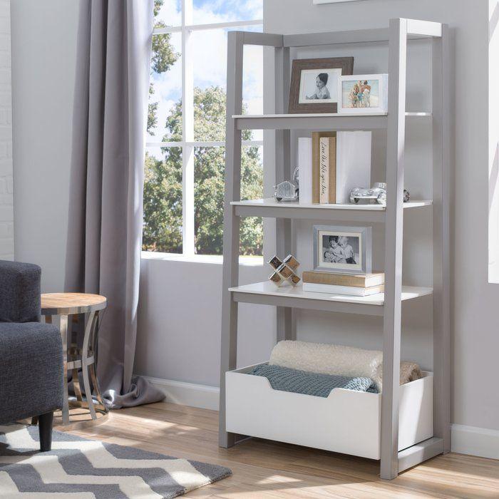 """harriet bee hamden 56"""" shelf bookcase  reviews  wayfair"""