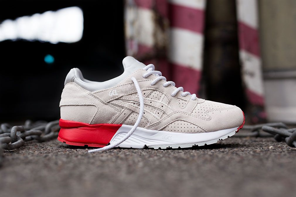 tênis asics gel lyte v red white