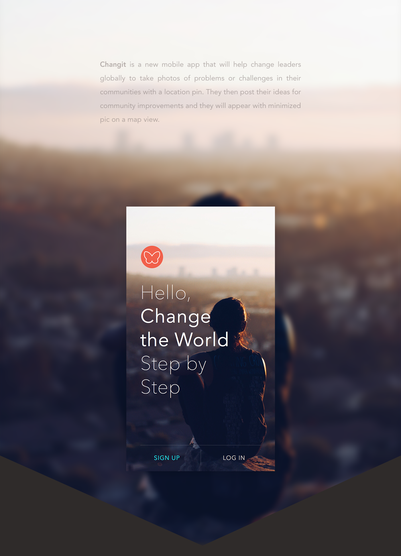 Changeit - Change the World Step by Step on Behance