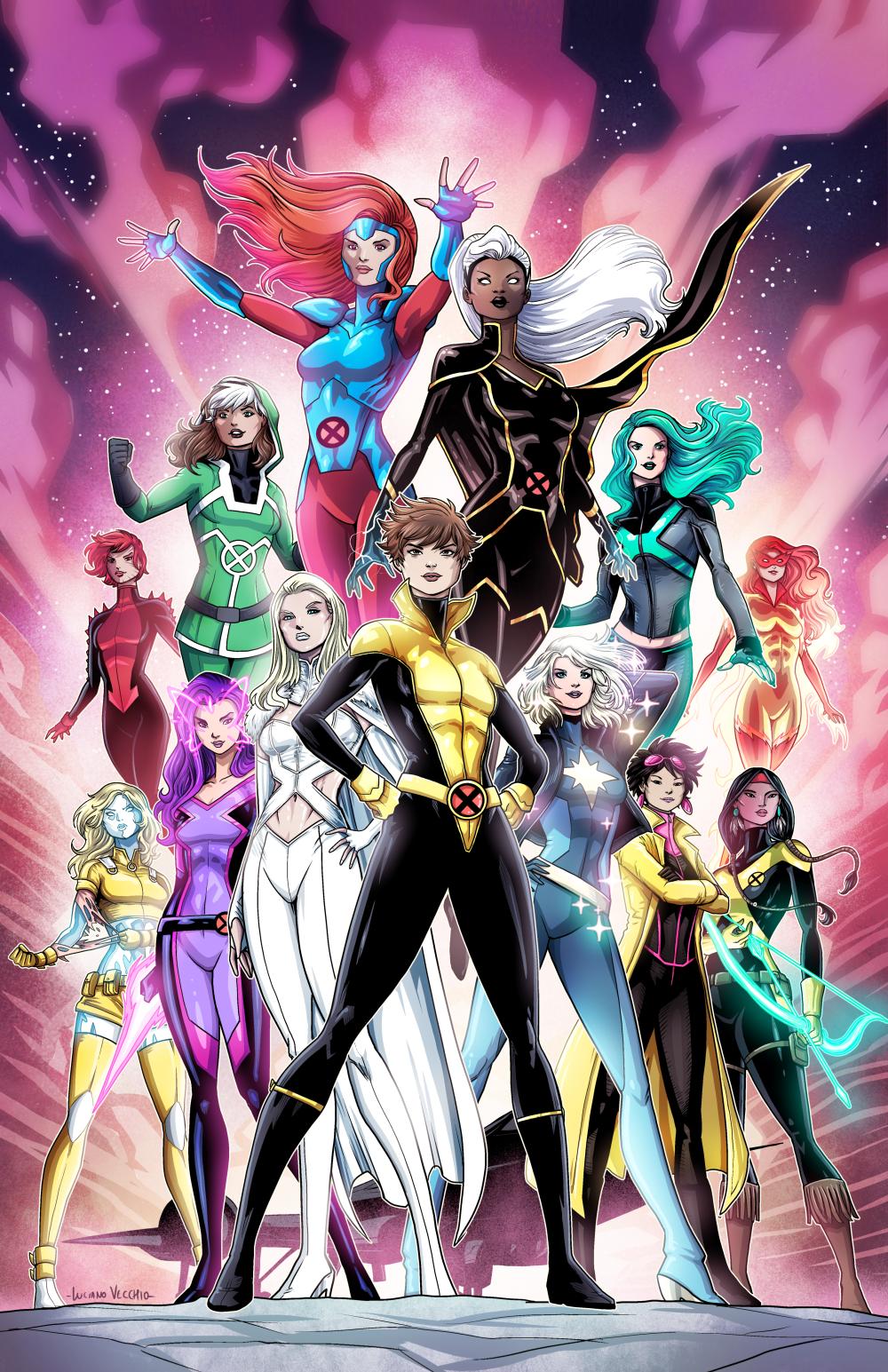 X Women By Lucianovecchio Marvel Heroines Marvel Xmen Marvel Women