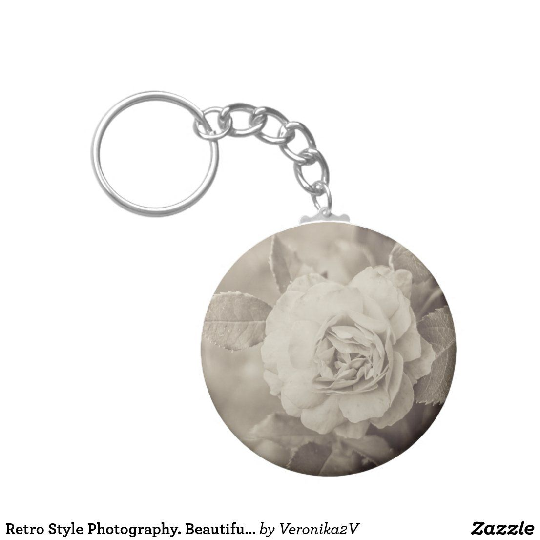 Retro Style Photography Beautiful Rose Flower Keychain Retro Style Photography Beautiful Rose Flow In 2020 Cool Gifts For Women Retro Fashion Beautiful Roses