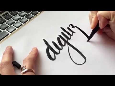 Cómo digitalizar sus letras a mano utilizando de Illustrator Imagen ...