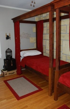 Harry Potter Gryffindor Dorm Room A Shared Bedroom Decorated As