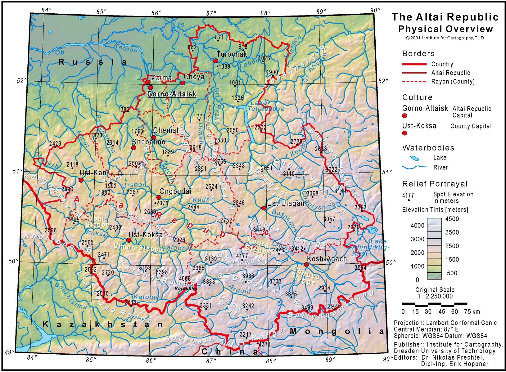A map of the Altai