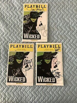 Wicked Los Angeles Playbill (Feb 2008) Autographed Eden Espinosa Megan Hilty | eBay