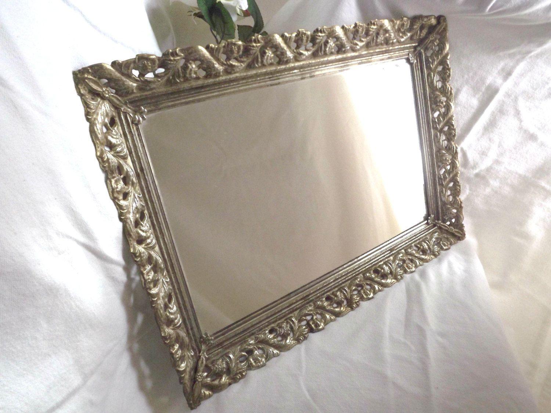 Vintage vanity tray with mirror trays vintage vanity and vintage