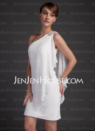 Short Chiffon Dresses One Arm
