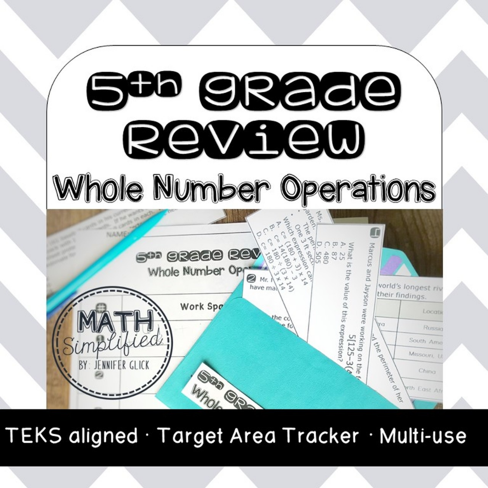 5th Grade Review: Whole Number Operations | 5th Grade Math ...