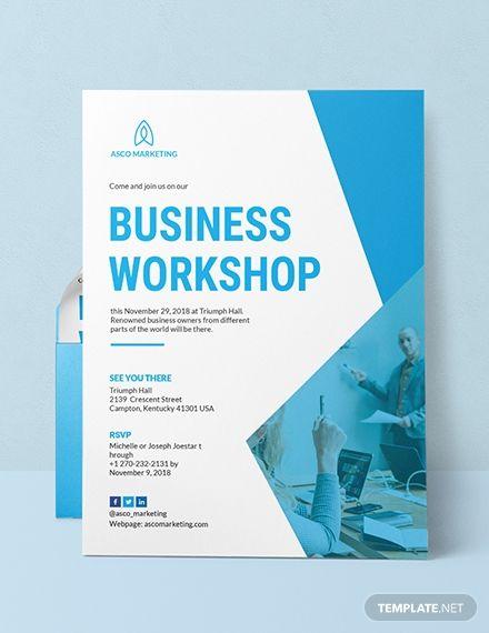 Business Invitation Card Corporate