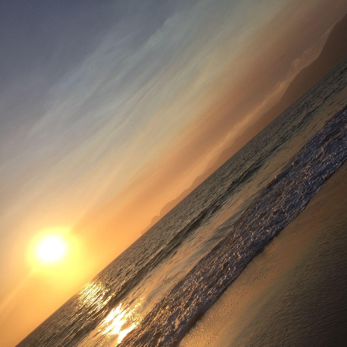 Baker Beach San Francisco sunset.