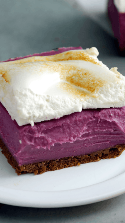 Bar Ubi Ungu Dengan Marshmallow Resep Resep Makanan Memanggang Kue Resep Makanan Penutup