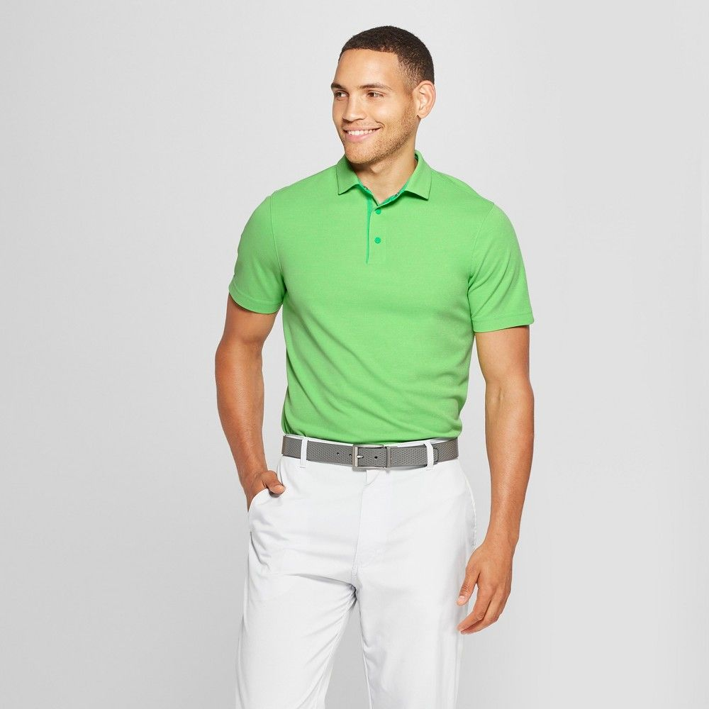 96cd51e0c The Men's Pique Polo from C9 Champion helps you play it cool on the course  with short sleeves and wicking technology. A button collar ensures classic  style ...