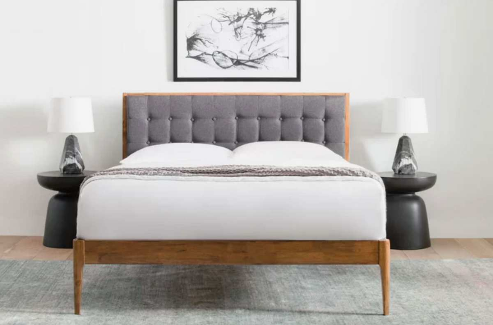 The Best Bed Frames According To Interior Designers In 2020 With Images Wood Platform Bed Upholstered Panel Bed Upholstered Platform Bed