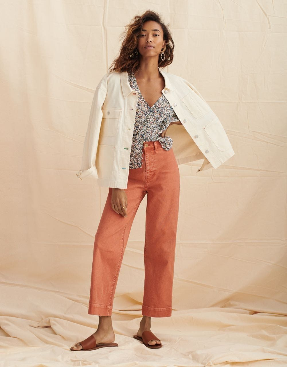 93560ec58 Cropped Chore Jacket in 2019 | all smiles / looks we love | Wide leg ...