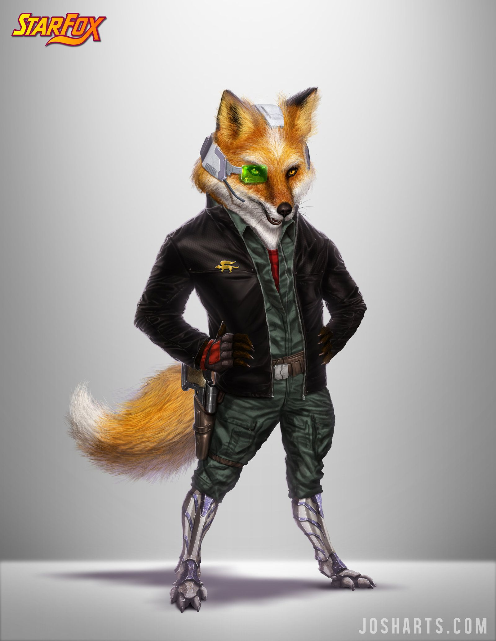 Fox Mccloud Re Design By Dogsfather Deviantart Com On