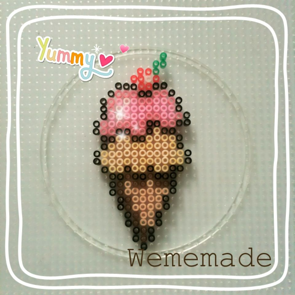 Perler Beads Creation No.9 - Ice-Cream Cone for Hot Day! by WeMeMade