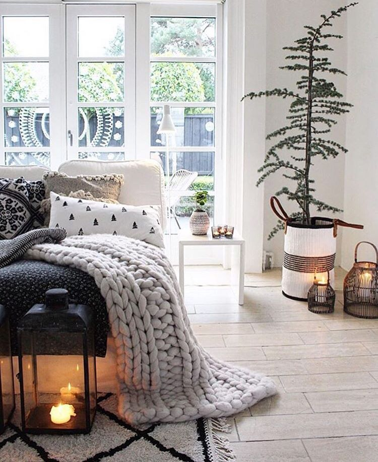 Festive Atmosphere In A Nordic Bohemian Style Scandinavian Bedroom Decor Small Bedroom Decor Bedroom Design
