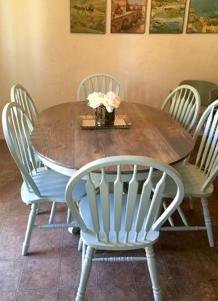 Oval Farm Table Pine Planked Top Table 1x12 Made Using