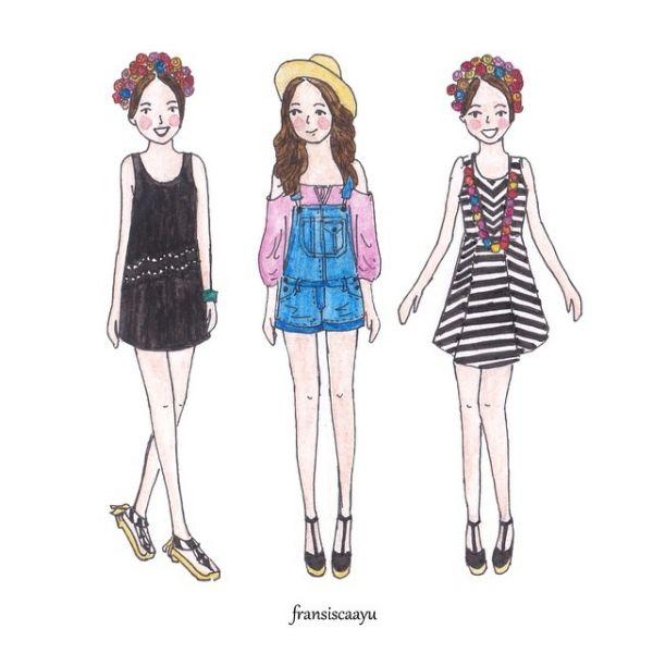 好想要插畫裡的那些衣服!這個女生用甜美清新的手繪畫風呈現她的穿搭藝術|PopDaily 發現你的生活靈感 | Zelda ...
