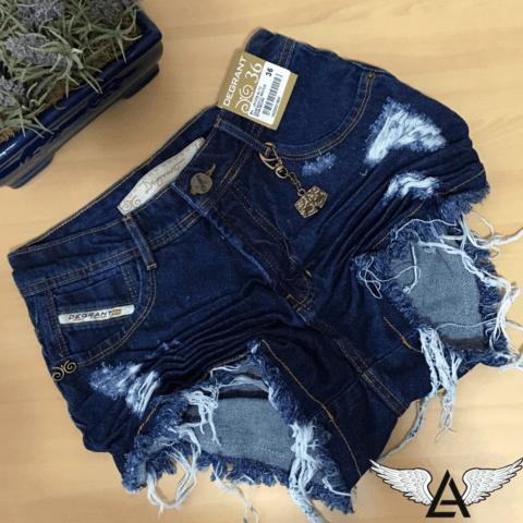 23a7c66d9 SHORTS JEANS DEGRANT ESCURO   Jeans Femininos em 2019   Shorts jeans ...