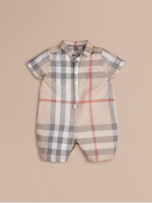cdb3561ece0 Check Cotton Playsuit in Classic