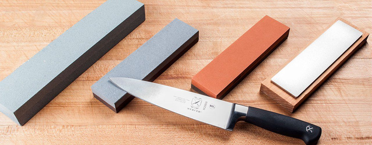 How To Sharpen A Knife With A Stone Kitchen Knives Knife Sharpening Stone Sharpening Stone