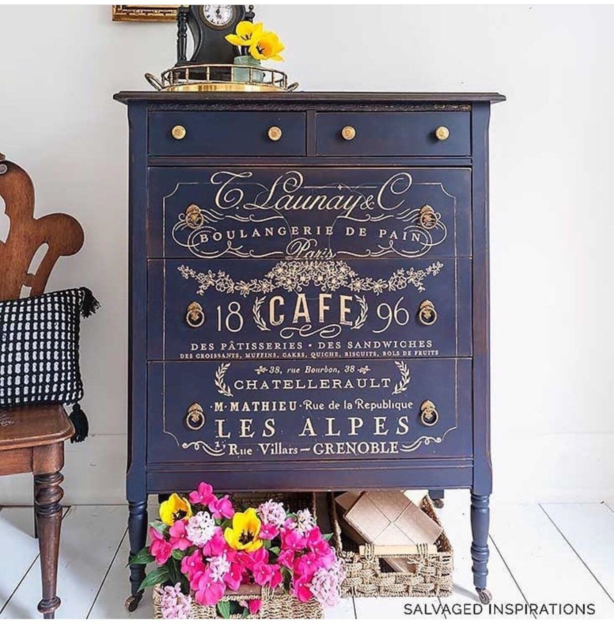 Usa Somewhere In France Redesign With Prima Rub On Transfer Backorder Ships To Cx March 11 In 2020 Rub On Transfers France Decor Furniture Wax