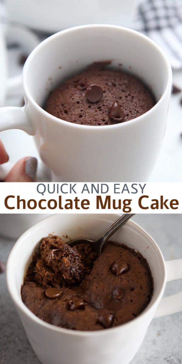 Chocolate Mug Cake Recipe In 2020 Desserts Mug Cake Healthy Easy Chocolate Mug Cake