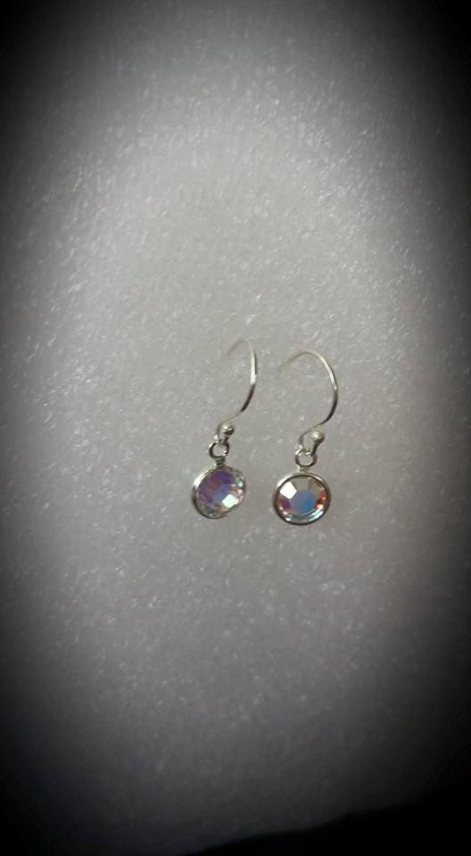 Tiny Birthstone Dangle earrings by Hip11 on Etsy