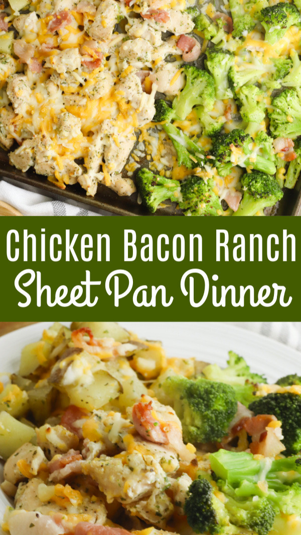 Chicken Bacon Ranch Sheet Pan Dinner
