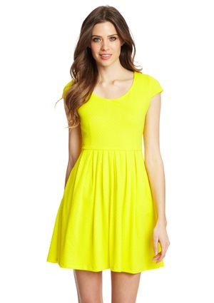 TIANA B. Scoop Neck Cap Sleeve Knit Dress with Pleated Skirt