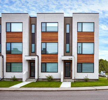 Parcside townhomes modern exterior calgary inertia for Modern townhouse exterior