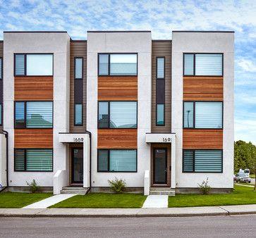 Parcside Townhomes Modern Exterior Calgary Inertia