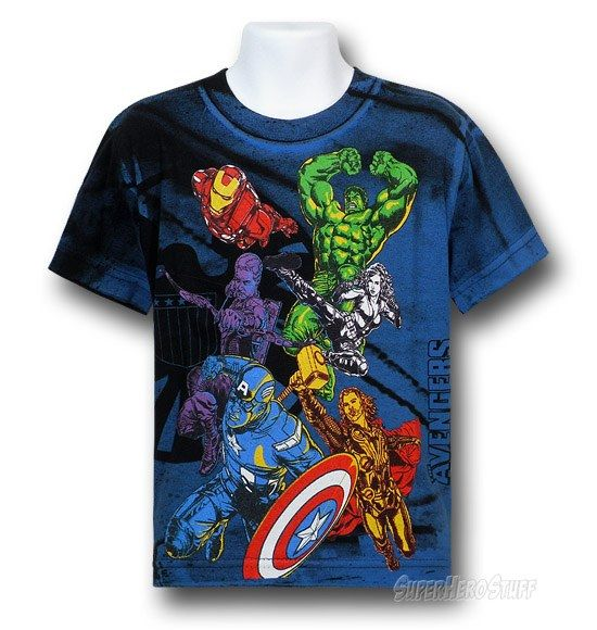 Images of Avengers Movie Action Heroes Juvy T-Shirt $15.99