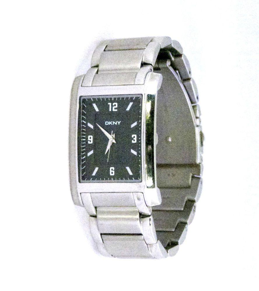 dkny men s watch ny1240 silvertone black dial textured rectangular dkny men s watch ny1240 silvertone black dial textured rectangular 30x43mm dkny dress