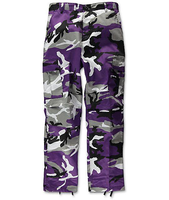 Rothco BDU Tactical Ultra Violet Camo Cargo Pants  fd2e429200