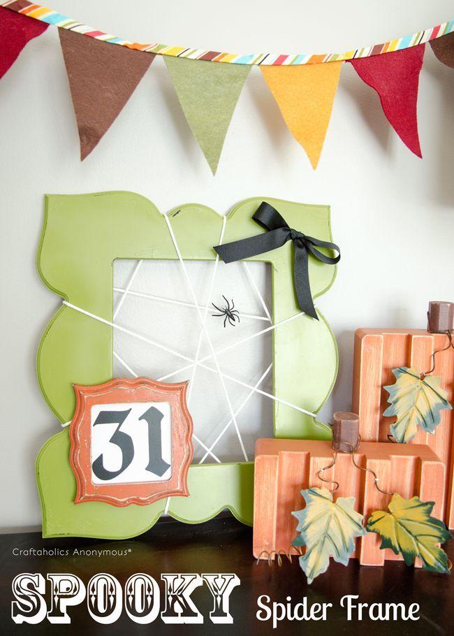 Spider Web Frame Spider webs, Halloween decorations and Halloween - fun and easy halloween decorations