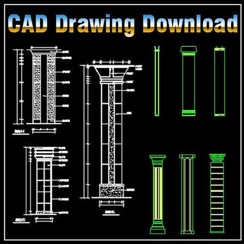 Column Design Drawing】★ Http://www.boss888.net/autocad/b14