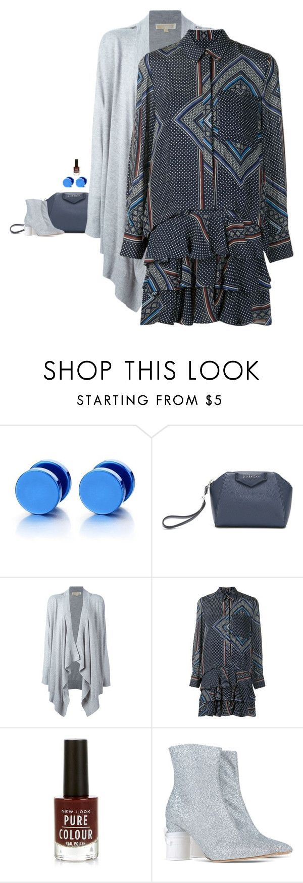 """""""Derek Lam 10 Crosby - Scarf Print Combo Shirt Dress Style"""" by twinklebluegem ❤ liked on Polyvore featuring Givenchy, MICHAEL Michael Kors, 10 Crosby Derek Lam and Maison Margiela"""