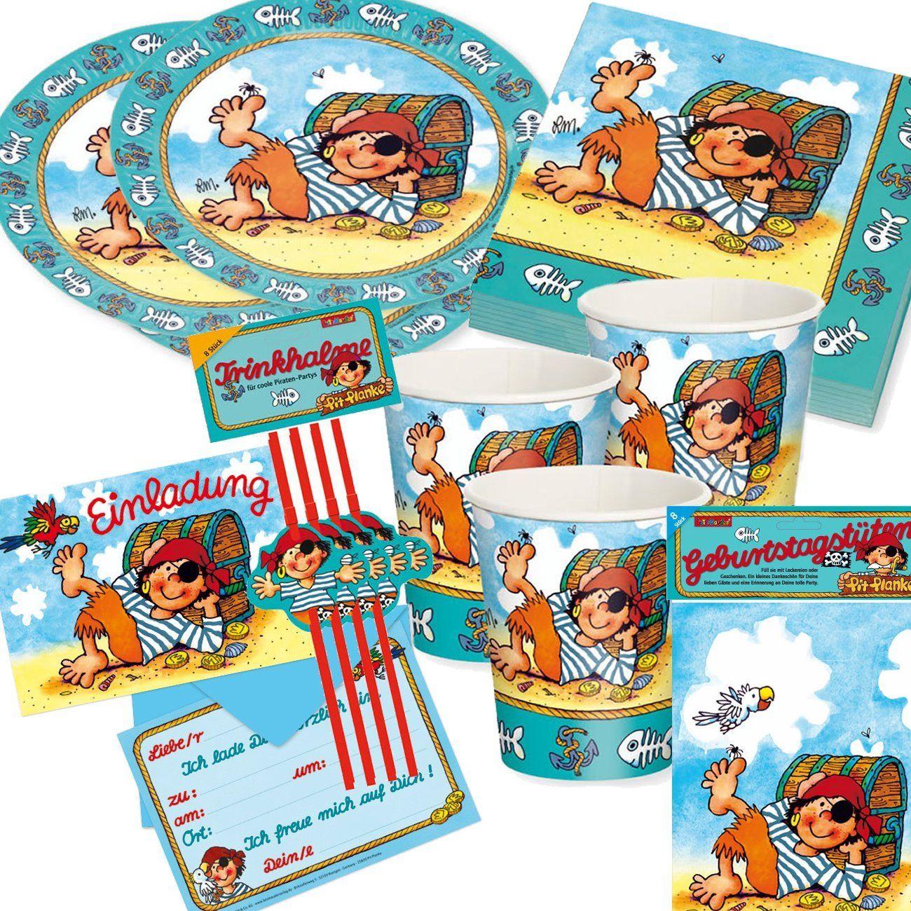 24 teiliges Piraten Party Set Kindergeburtstag Themenparty Mitgebsel