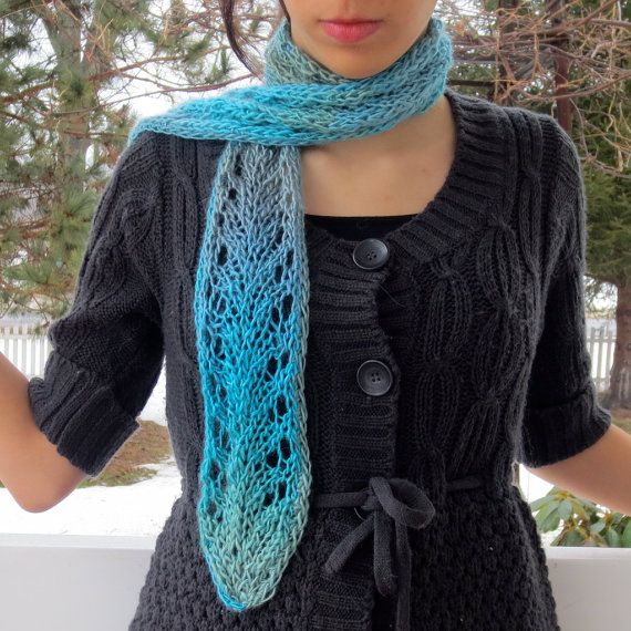 Vine Lace Scarf Knitting Pattern Pdf Beginning Lace Knitting