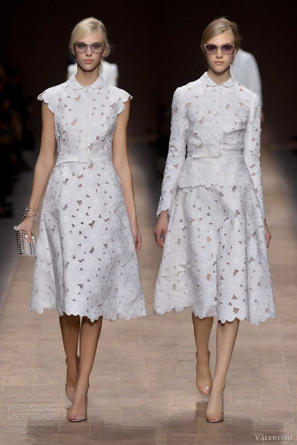 Valentino spring summer 2013 ready to wear valentino for Short white summer wedding dresses
