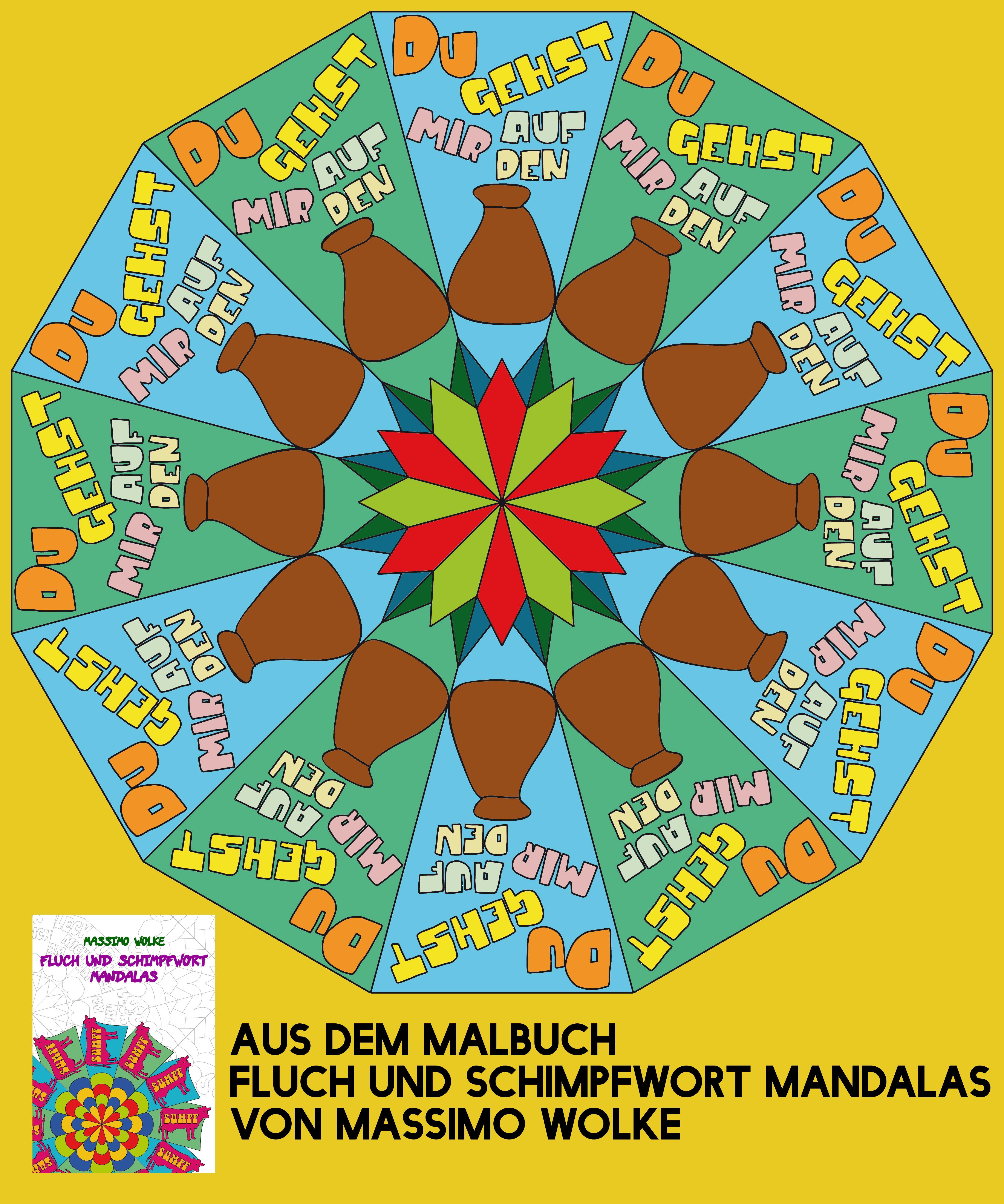 aus dem Malbuch von Massimo Wolke: Fluch und Schimpfwort Mandalas ...