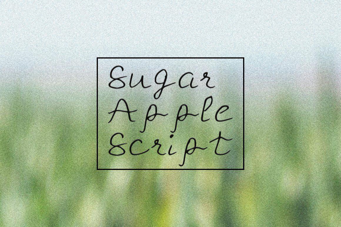 Free Sugar Apple Script Handmade Font Beautiful script