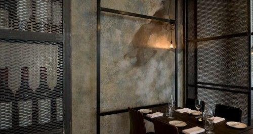 exposed concrete restaurant interior design