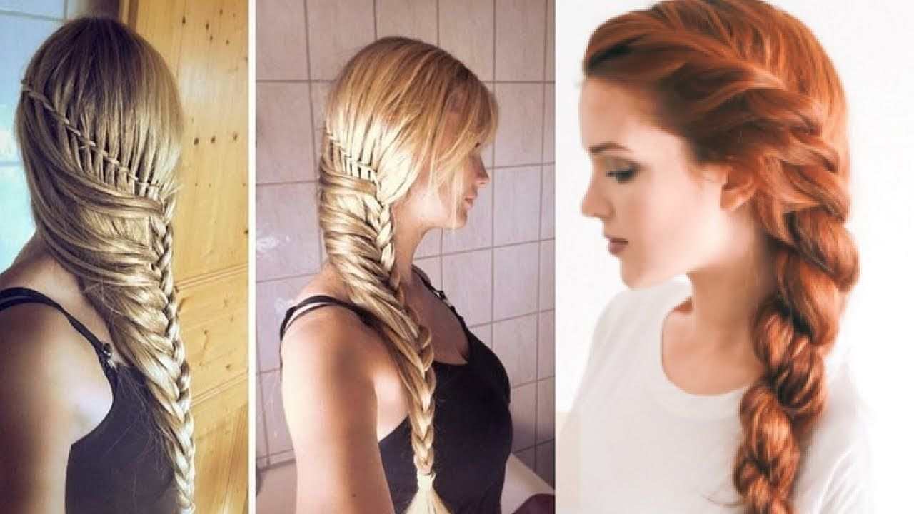 easy everyday hairstyle for long medium hair  part 22